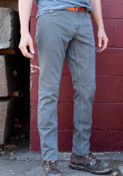 grey Cordura slim fit jean