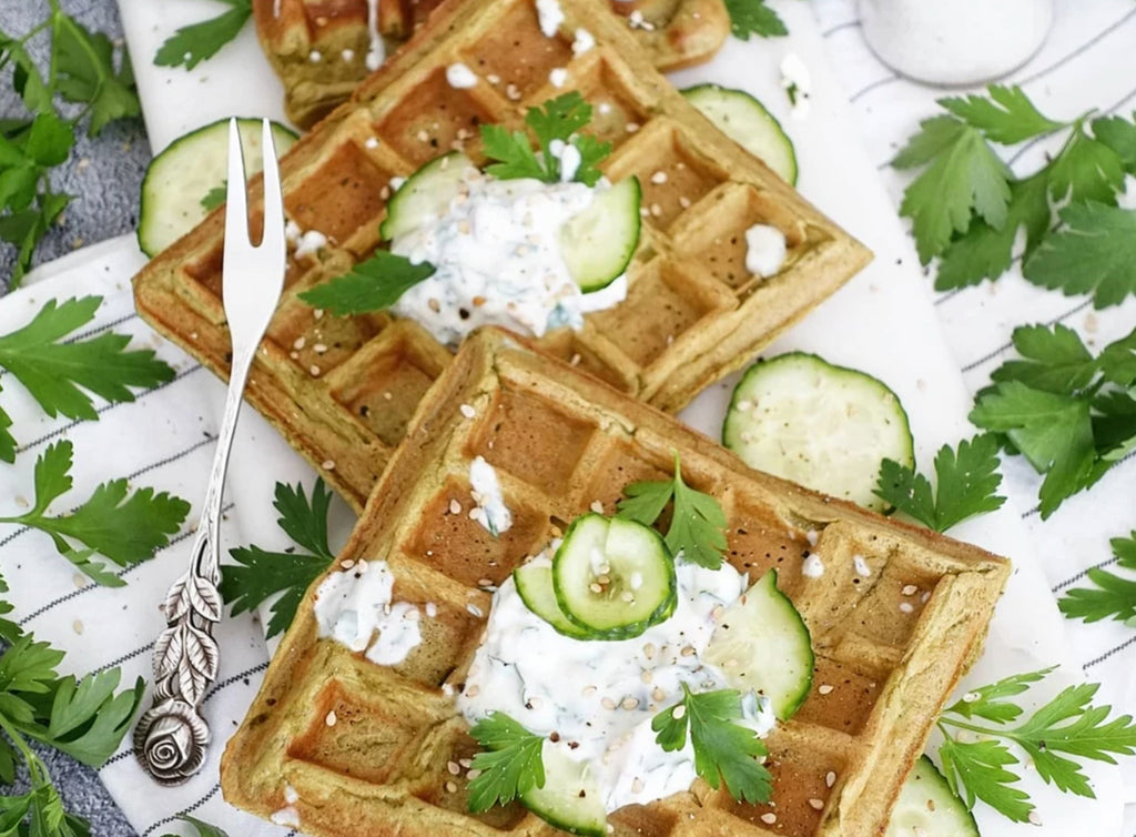 Super Green Soup Waffles