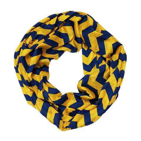 Blue & Gold Chevron Infinity Scarf