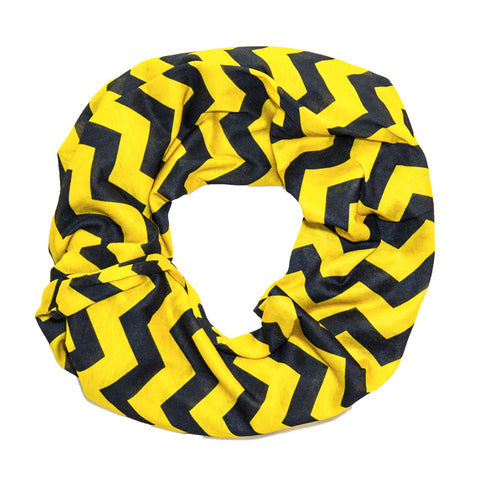 Yellow & Black Chevron Infinity Scarf