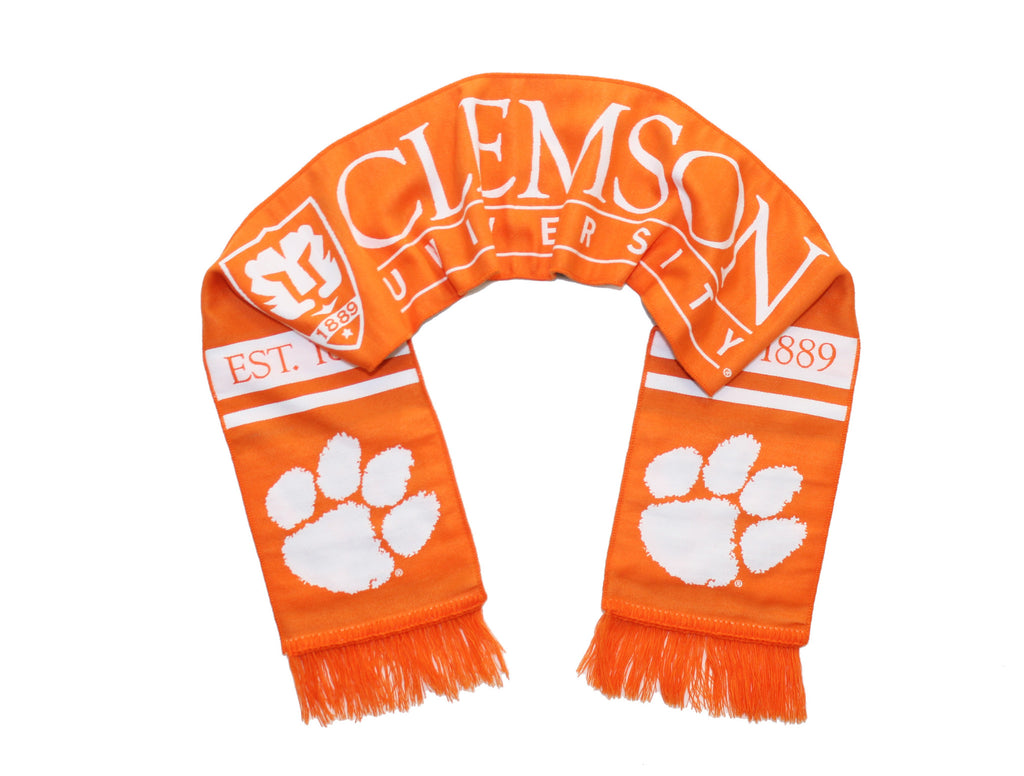 Clemson Tigers Scarf - Clemson University Double-Sided Woven