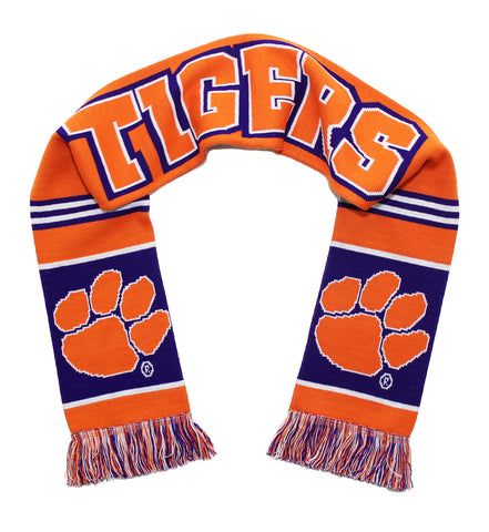 Clemson Tigers Scarf - Clemson University Knitted