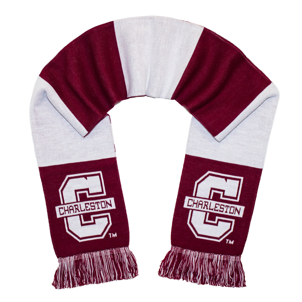 College of Charleston Scarf -  COC Cougars Knitted Classic
