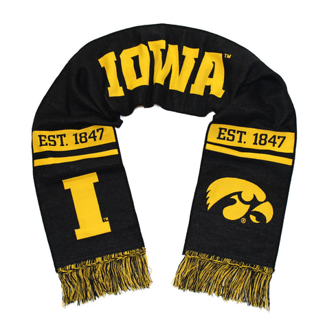 Iowa Hawkeyes Scarf - UI University of Iowa Classic