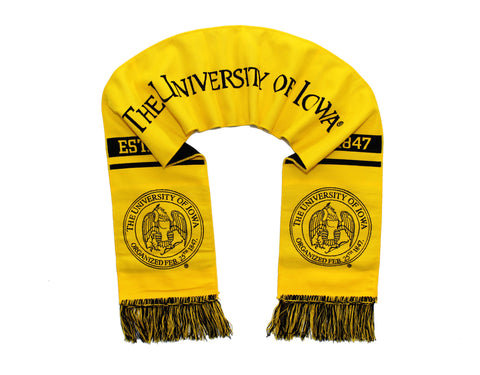 University of Iowa Scarf - Iowa Hawkeyes Alternate Woven