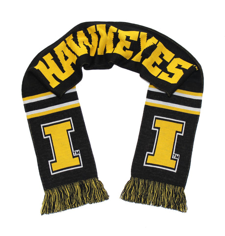 Iowa Hawkeyes Scarf - University of Iowa Knitted Classic