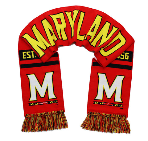 Maryland Terrapins Scarf - UMD University of Maryland Woven