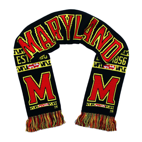 Maryland Scarf - Maryland Terrapins Classic Black Knitted