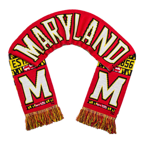 Maryland Red Knitted with State Flag Back