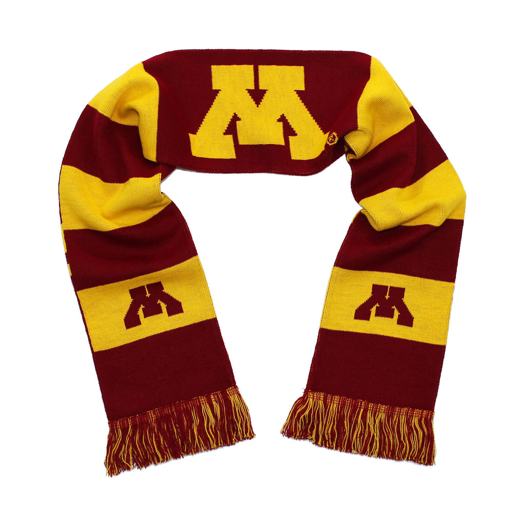 Minnesota Golden Gophers Scarf - University of Minnesota Knitted