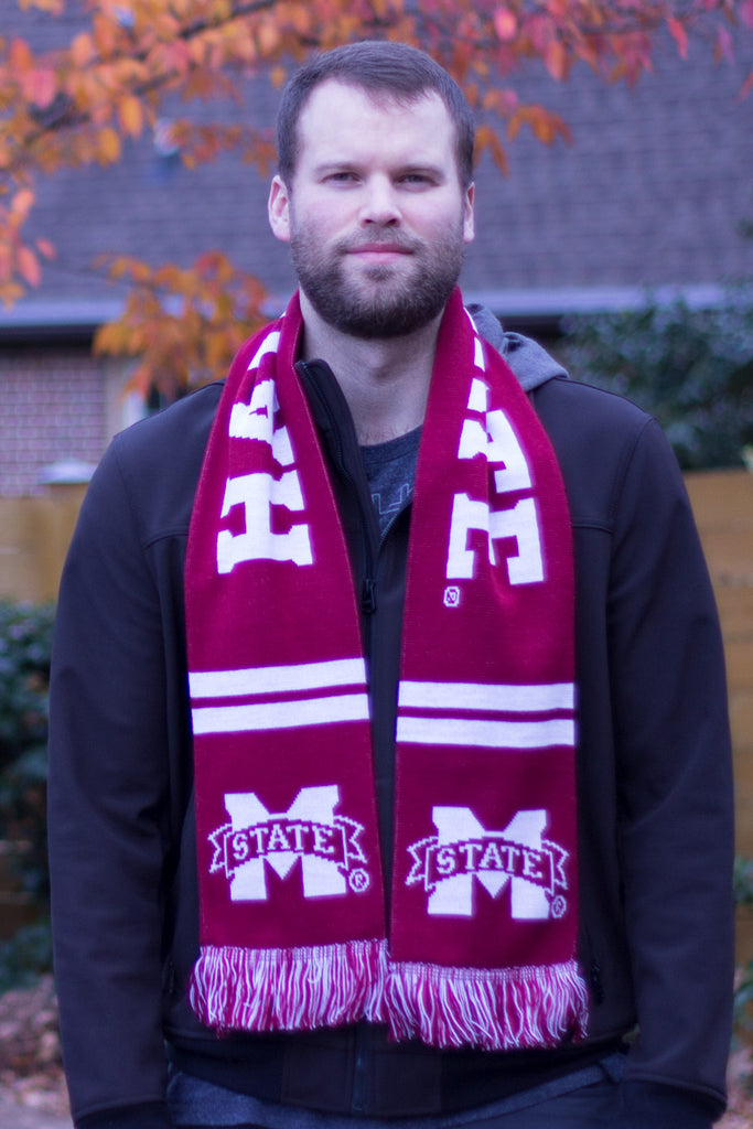 Mississippi State Scarf - Mississippi State Bulldogs Knitted