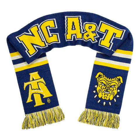 NC A&T Aggies Scarf - North Carolina A&T University Classic Knitted