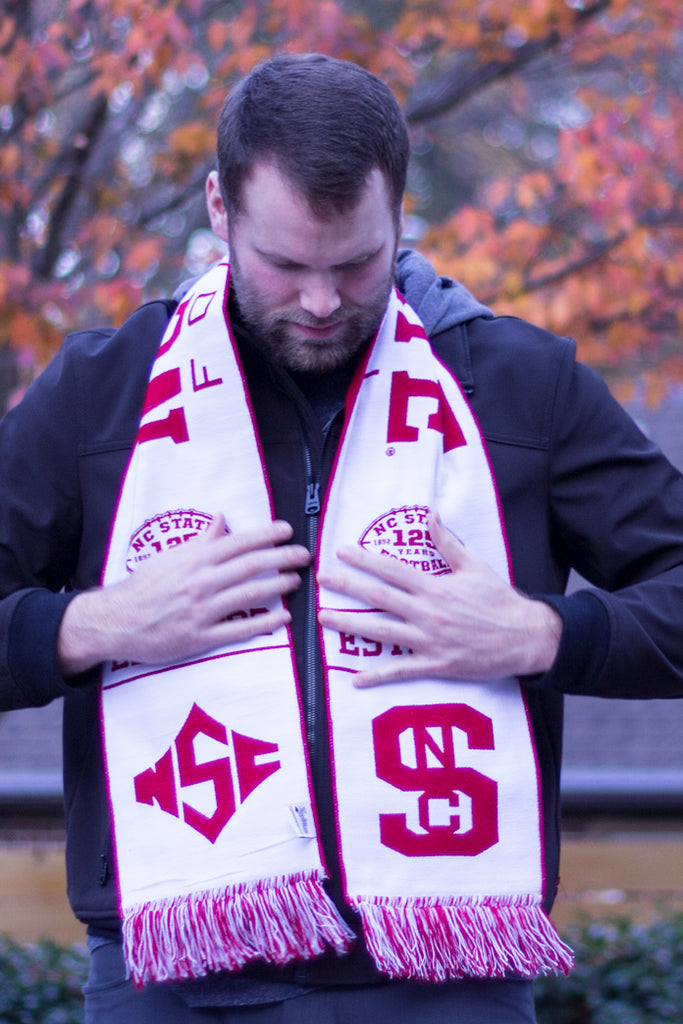 NC State Football Scarf - 125th Anniversary Special Edition - NCSU Wolfpack