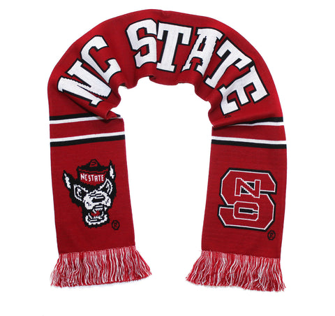NC State Wolfpack Scarf - Knitted - Red Go Pack