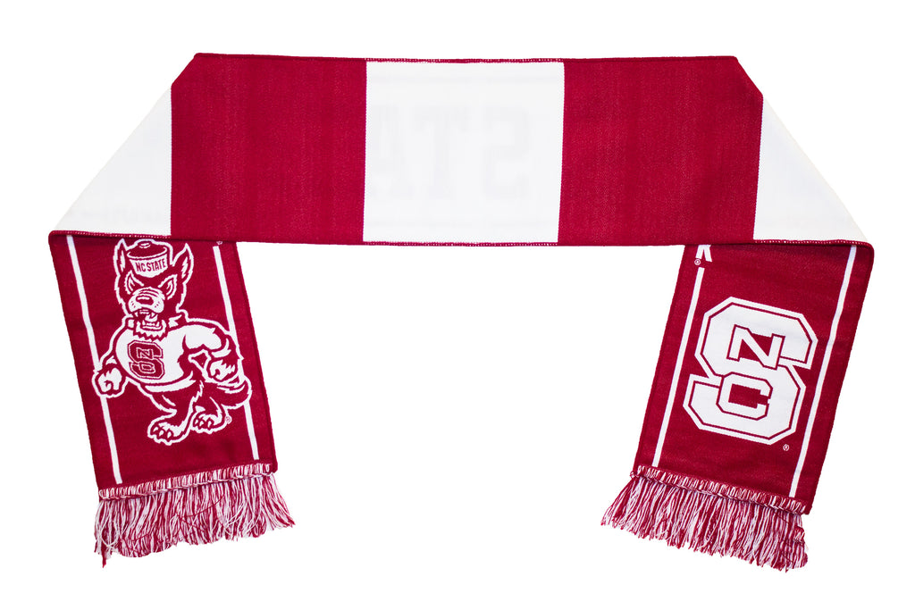 NC State Wolfpack Scarf - Red and White NCSU Woven Jacket Scarf
