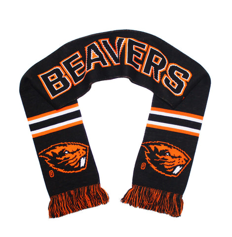 Oregon State Beavers Scarf - OSU Knitted