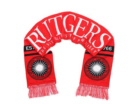 Rutgers University Scarf - Scarlet Knights Woven with Seal
