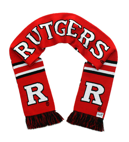 Rutgers University Scarf - Rutgers Scarlet Knights Red Knitted