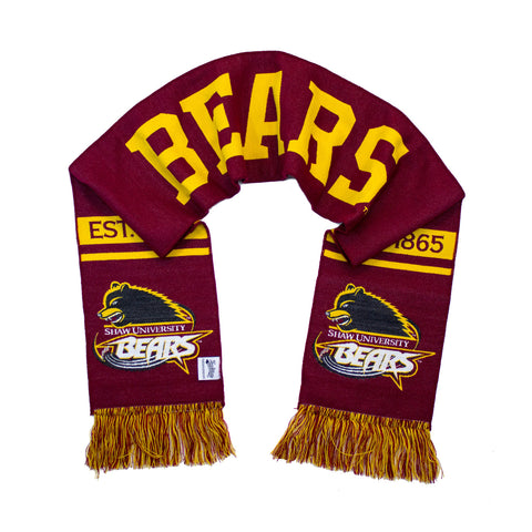 Shaw University Scarf - Shaw Bears Double Sided Woven