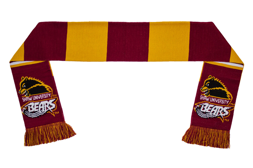 Shaw University Scarf - Shaw Bears Knitted Classic