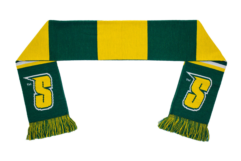 Siena College Scarf - Green and Gold Siena Saints Knitted