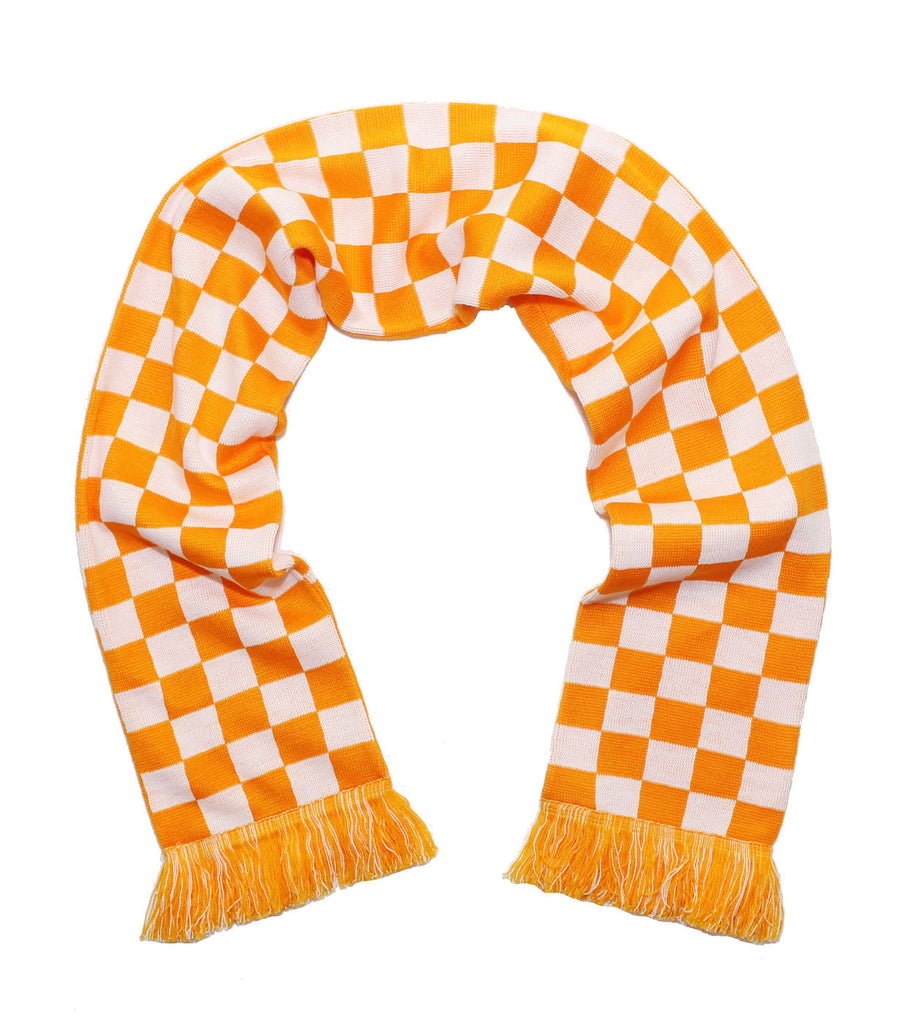 Tennessee Volunteers Scarf - UT Knitted Checkerboard Classic