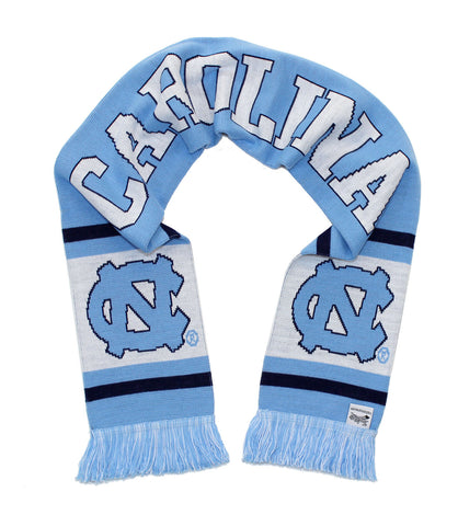 North Carolina Tar Heels Scarf - UNC University of North Carolina Classic Kni...