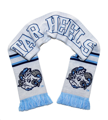UNC Tar Heels Scarf - All White Alternate North Carolina Knitted