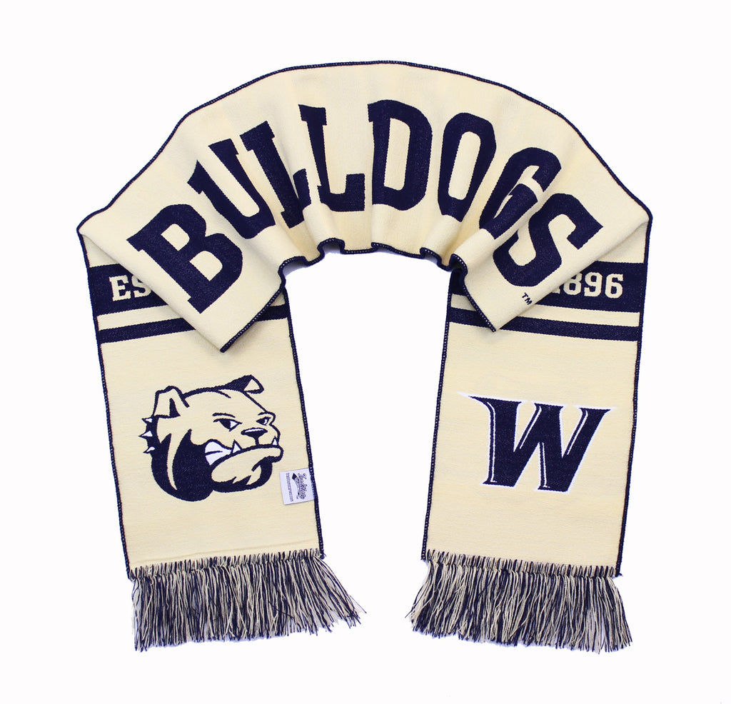 Wingate Bulldogs Scarf - Wingate University Classic Woven