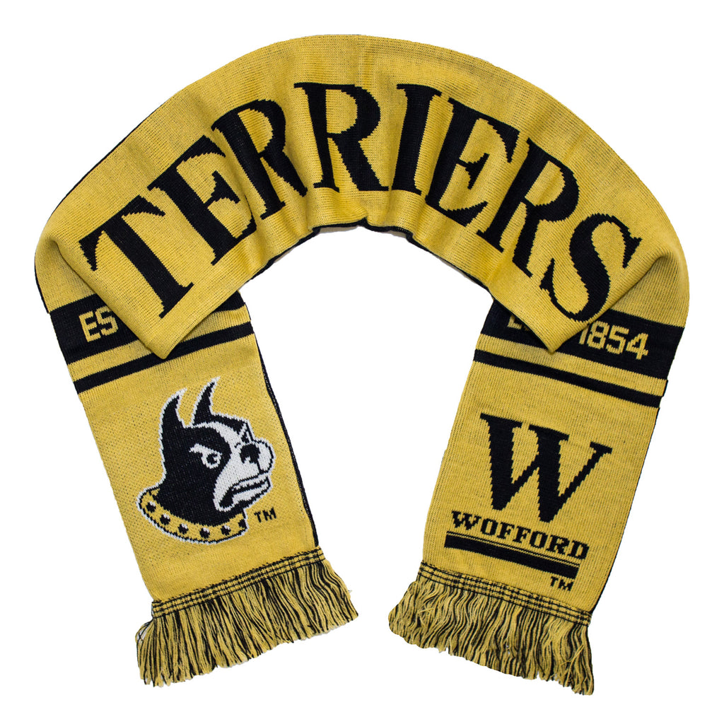 Wofford Terriers Scarf - Wofford College Knitted Classic