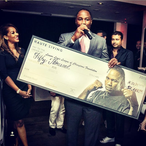 Lennox Lewis League of Champions first fundraiser