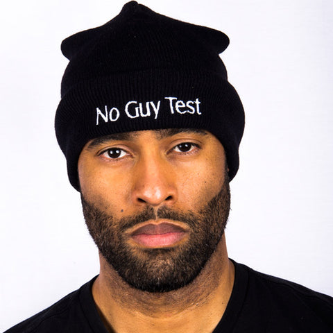 """No Guy Test ™""  Slouch Beanie"