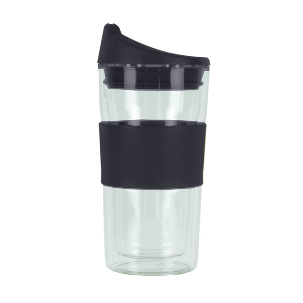 350ML BLACK GLASS MUG