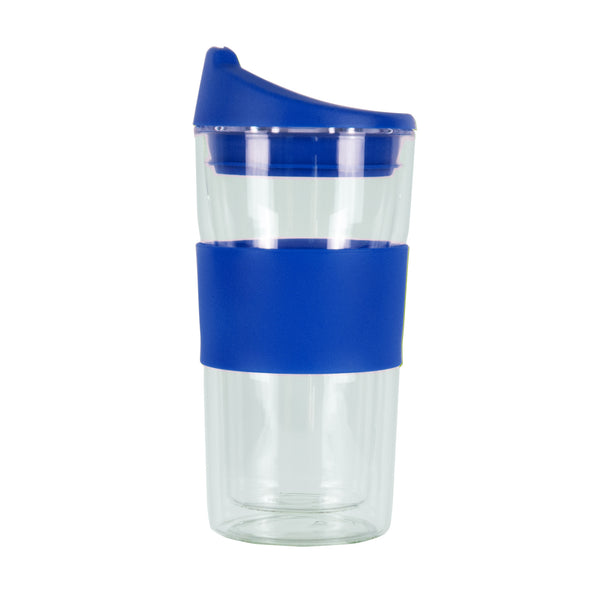 350ML BLUE GLASS MUG