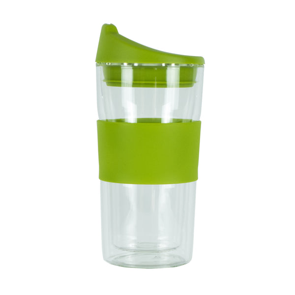 350ML GREEN GLASS MUG