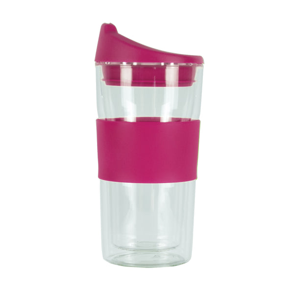 350ML PINK GLASS MUG