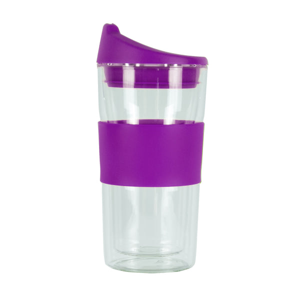 350ML PURPLE GLASS MUG