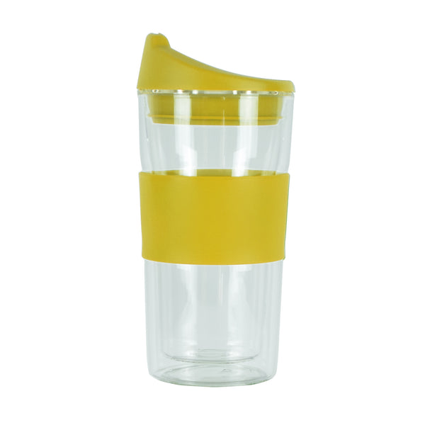 350ML YELLOW GLASS MUG