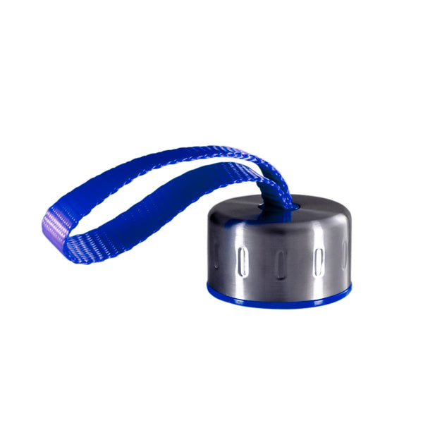 BLUE STAINLESS STEEL STRAP LID