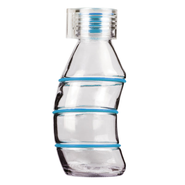 350ML CYAN CURVY - CLEAR