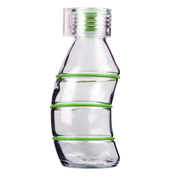 350ML GREEN CURVY - CLEAR