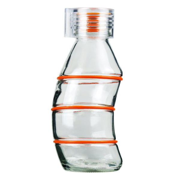 350ML ORANGE CURVY - CLEAR