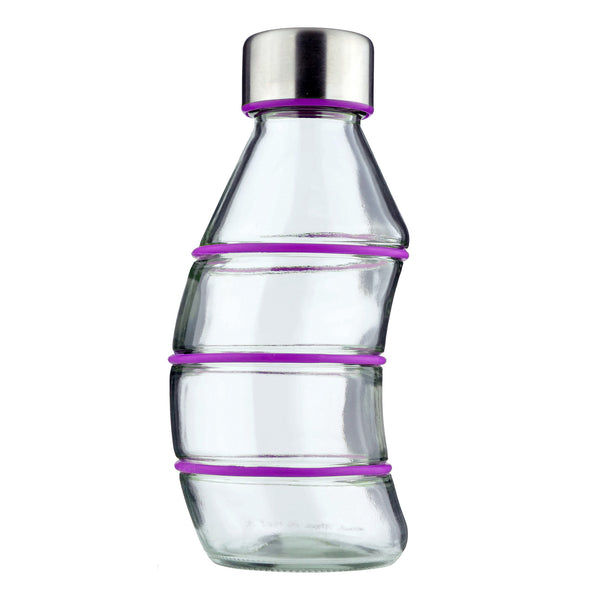 PURPLE CURVY GLASS BOTTLE