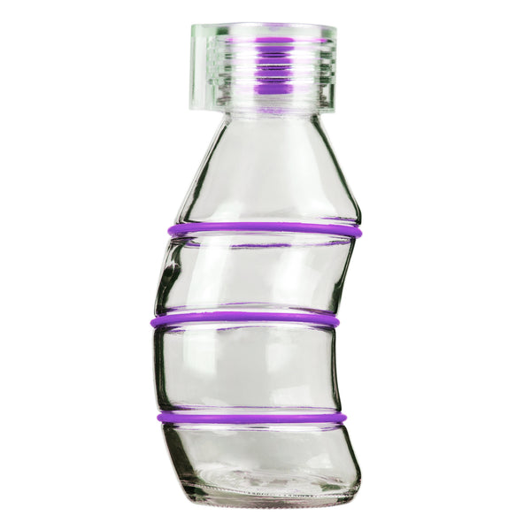 350ML PURPLE CURVY - CLEAR