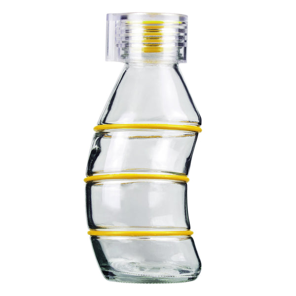 350ML YELLOW CURVY - CLEAR
