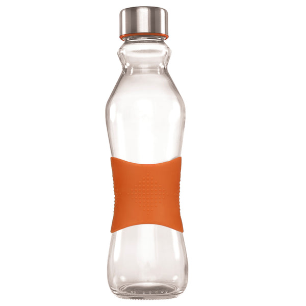 500ML ORANGE GRIP - STAINLESS