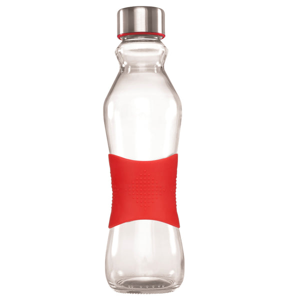 500ML RED GRIP - STAINLESS