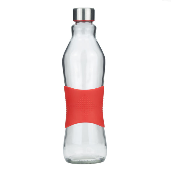 1.0L RED GRIP - STAINLESS