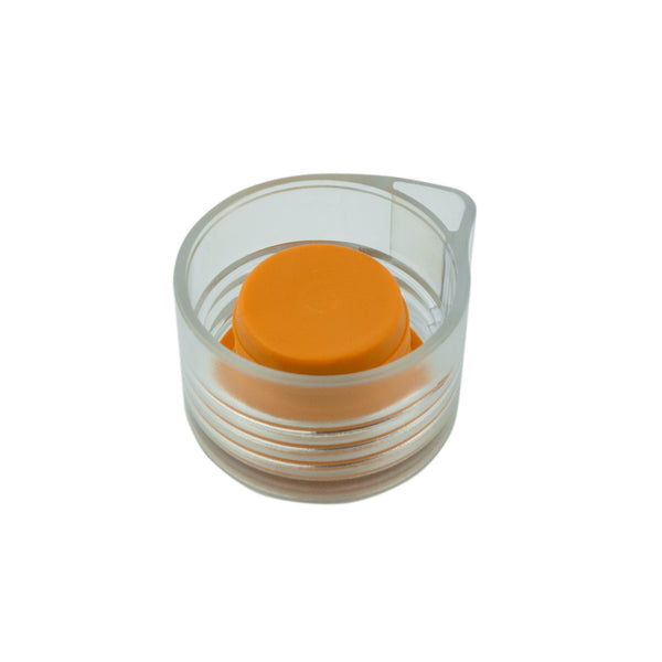 ORANGE MODERN CLEAR LID