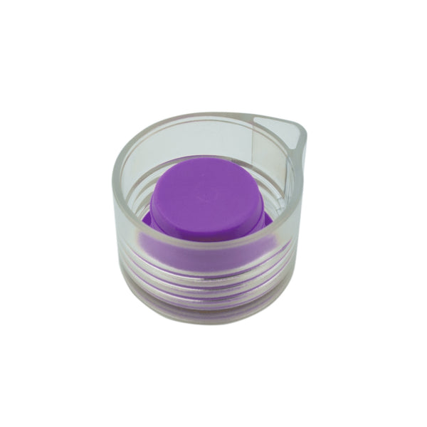 PURPLE MODERN CLEAR LID